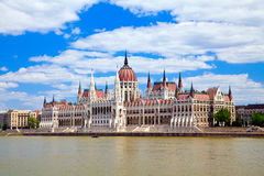 Parliament in Budapest. The beautiful building of the Parliament in Budapest, Hungary Stock Photography