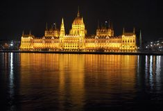 Parliament in Budapest Royalty Free Stock Photos