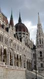 Parliament in Budapest. A close view of Parliament building in Budapest, Hungary Stock Photo