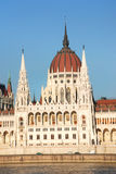 Parliament in Budapest. On the Danube (Buda side view), Hungary Royalty Free Stock Photography