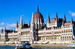 The Parliament in Budapest. The Hungarian Parliament in Budapest Royalty Free Stock Photos