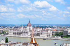 The Parliament in Budapest. The Hungarian Parliament in Budapest and Danube river Stock Photography