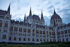 Parliament in Budapest. Hungarian Houses of Parliament in Budapest at dusk Stock Photography