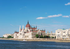 Parliament, Budapest, Hungary. Parliament building on the bank of the Danube river, Budapest, Hungary stock photography