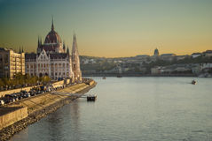 The Parliament of Budapest (Hungary) Royalty Free Stock Photos