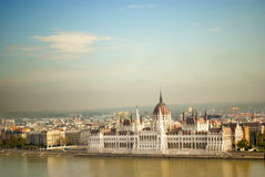 The Parliament of Budapest (Hungary) Stock Photography