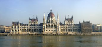 Parliament in Budapest, Hungary Royalty Free Stock Photography