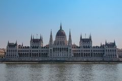Parliament in Budapest in Hungary royalty free stock image