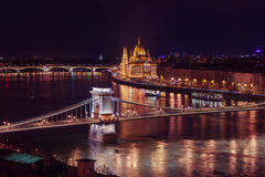 Parliament in Budapest Hungary Stock Images