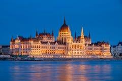 Parliament, Budapest, Hungary at night Stock Photo