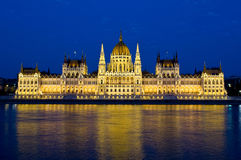 Parliament in Budapest by night Royalty Free Stock Image