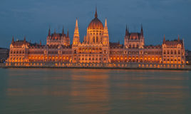 The Parliament of Budapest. The Parliament in Budapest at night through my eyes Royalty Free Stock Photography