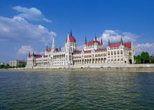 The Parliament of Budapest seen from Danube river cruise. Hungary Stock Photography