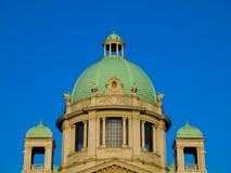 Parliament building in Belgrade Stock Images