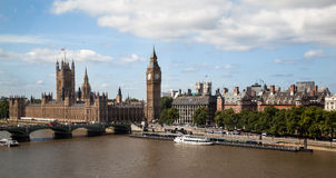 Parliament Building and Big Ben London England Stock Photo