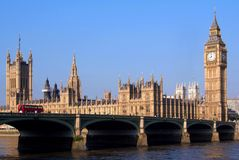 Parliament Building and Big Ben Royalty Free Stock Photos