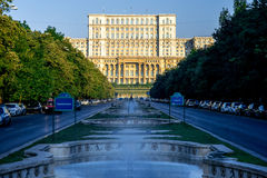 Parliament building in Bucharest Stock Photography