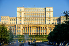 Parliament building in Bucharest Royalty Free Stock Photos