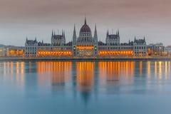 Parliament building, Budapest. Parliament building at dusk, Budapest Stock Photos