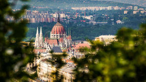 Parliament Building in Budapest from elevated view Stock Image