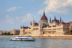 Parliament Building in Budapest, Hungary. Royalty Free Stock Photography