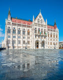 Parliament building in Budapest, Hungary, afer rain Royalty Free Stock Image