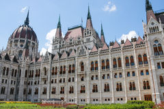 The Parliament building in Budapest, Hungary. Architectural details. Royalty Free Stock Photo