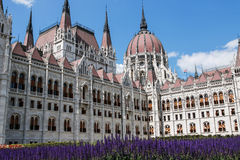 The Parliament building in Budapest, Hungary. Architectural details. Royalty Free Stock Images