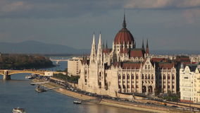Parliament building in Budapest, Hungary stock video