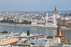 Parliament Building at Budapest, Hungary Royalty Free Stock Photos