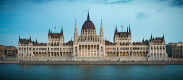 Parliament building in Budapest, Hungary, Europe. Stock Photo