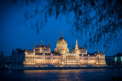 Parliament building in Budapest, Hungary, Europe. Royalty Free Stock Photos