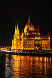Parliament building in Budapest, Hungary Royalty Free Stock Images