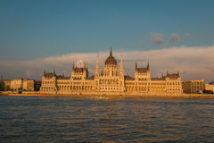 Parliament Building in Budapest Stock Photo