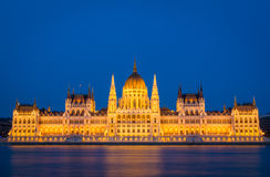 Parliament building in Budapest at night Royalty Free Stock Photography