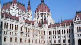 Parliament building in Budapest. Rear view of Parliament building in Budapest Royalty Free Stock Photo