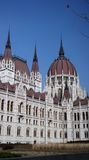 Parliament building in Budapest. Rear view of Parliament building in Budapest, Hungary Royalty Free Stock Photos