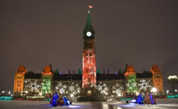 Parliament Building at Christmas Stock Images