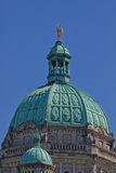 Parliament Building Dome in Downtown Victoria, British Columbia Royalty Free Stock Image