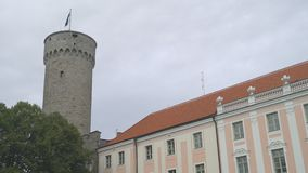 Parliament Building Of Estonia. Toompea castle. stock video footage