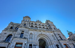 Parliament Building Facade in Downtown Victoria, British Columbia Royalty Free Stock Image