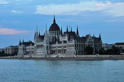 Parliament Building late in the afternoon - Budapest. Photo of the Parliament Building late in the afternoon - Budapest - Hungary- July 2010 royalty free stock images