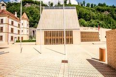 Parliament building in Liechtenstein Stock Image