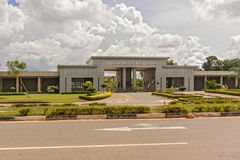 Parliament building in Lilongwe. Lilongwe, Malawi - March 29, 2015: View at the Parliament building in Lilongwe the capital city of Malawi Royalty Free Stock Photos