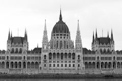 Parliament Building Monochrome, Budapest Stock Photo