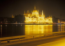 Parliament building at night. Budapest, capital of Hungary Stock Photo
