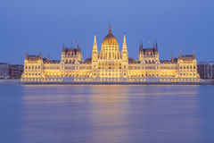 Parliament building at night in Budapest, Hungary Royalty Free Stock Photography