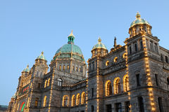 Parliament building night scene Stock Image