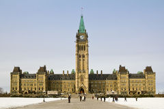 Parliament building in Ottawa Royalty Free Stock Photo