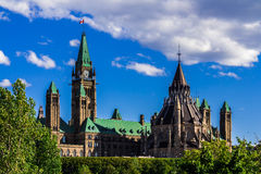 Parliament building in Ottawa Stock Photography